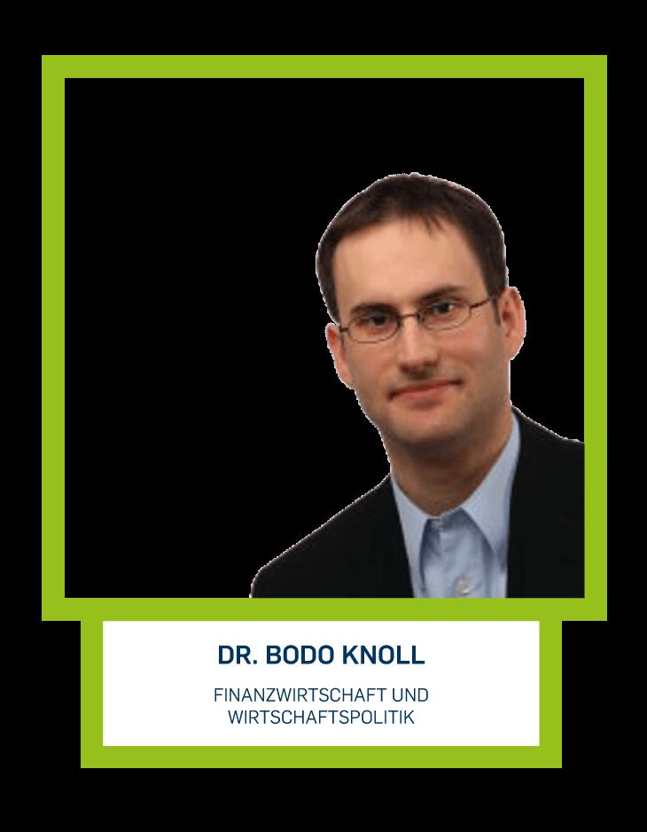 Dr. Bodo Knoll - Finanzwirtschaft und Wirtschaftspolitik