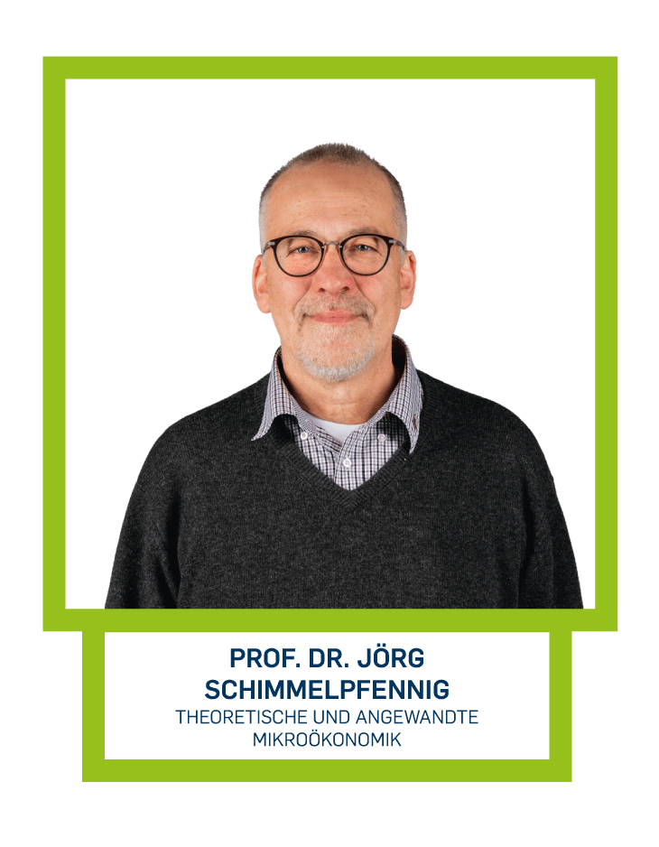 Prof. Dr. Jörg Schimmelpfennig - Theoretische und angewandte Mikroökonomik