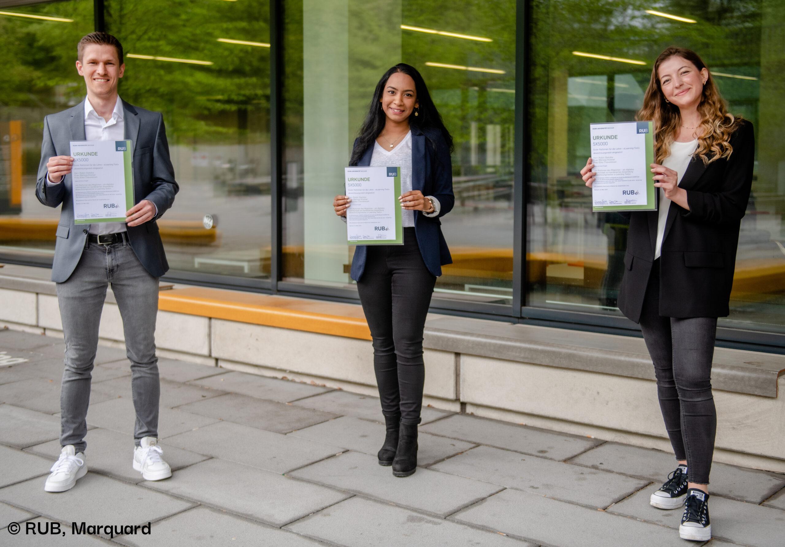 Das HRM-Lehrstuhlteam gewinnt den RUB eLearning Wettbewerb